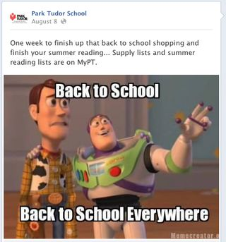 Park Tudor Facebook post screenshot