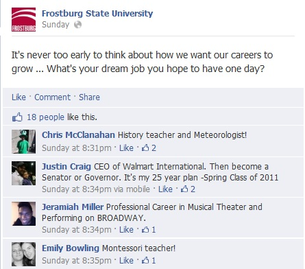 Screenshot of Frostburg Facebook page discussion