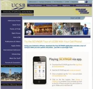 UCSB tours screen shot
