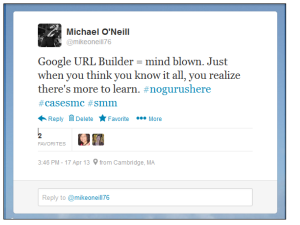 Google URL Builder Tweet