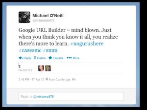 Google URL Builder Tweet