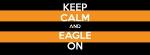 Our Keep Calm and Eagle On Facebook cover photo we had created just for May 9! We encouraged our alumni to change their profile/cover photos to the same-and they did!