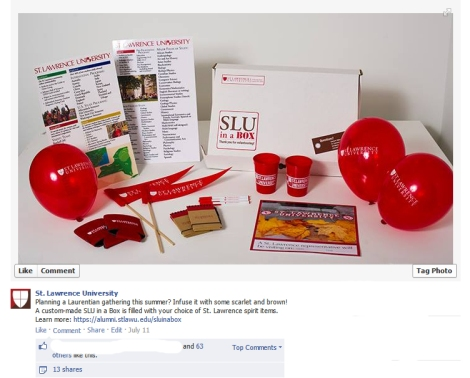 Facebook post about SLU in a Box