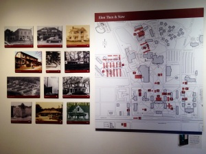 Elon University exhibit map