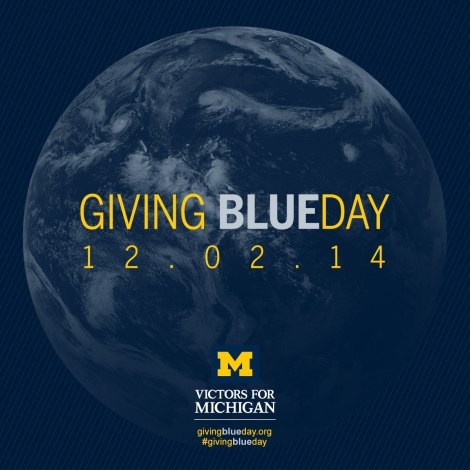 Giving Blueday globe