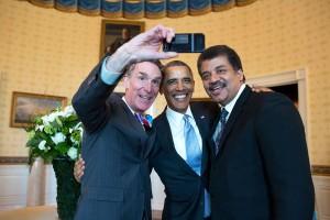 Bill Nye Obama DeGrasse Tyson selfie