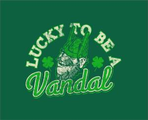 Lucky to Be a Vandal with Joe Vandal logo