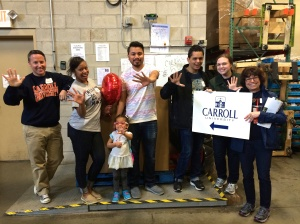 Carroll University alumni finished sorting over 500 pounds of food collected by alumni at Loaves and Fishes Pantry in Naperville, Illinois.