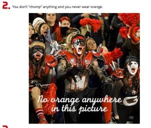 never wear orange