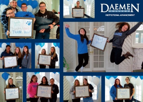The thank you card sent to Daemen College donors.