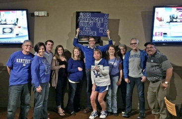 Game watch party of the Triangle NC Area UK Alumni Club to raise funds and collect donations for the Ronald McDonald House of Durham (October 15, 2015)