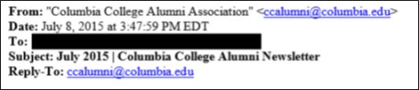Columbia College Email